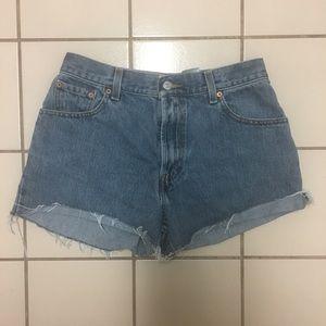 Levi's Cut Off High Rise Jean Shorts